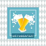 Oktoberfest celebration  design. Oktoberfest celebration design on textured background Stock Photography