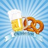 Oktoberfest Celebration. Radial Background with Copy space Royalty Free Stock Photos