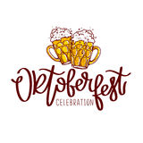 Oktoberfest Celebration. The trend calligraphy. Stock Photos