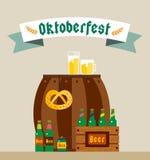 Oktoberfest celebration vector background poster Stock Photography