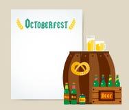Oktoberfest celebration vector background poster Royalty Free Stock Image
