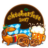 Oktoberfest celebration, vector banner series Stock Images