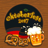 Oktoberfest celebration, vector banner series Royalty Free Stock Images
