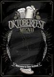 Oktoberfest chalkboard menu, kopii przestrzeń dla teksta Zdjęcie Royalty Free