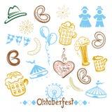 Oktoberfest, ciambellina salata, birra Immagine Stock Libera da Diritti