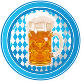 Oktoberfest circle button Royalty Free Stock Photos
