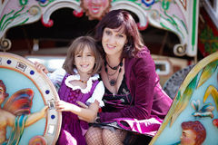 Oktoberfest com mamãe Fotografia de Stock Royalty Free