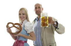 Oktoberfest Couple Royalty Free Stock Images