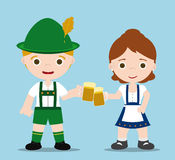 Oktoberfest couple Stock Photo