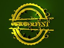 Oktoberfest 3d stamp. Oktoberfest relative stamp. Round shape with text. 3D rendering Stock Photography