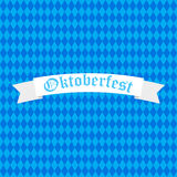 Oktoberfest design background beer festival vector banner bavarian design illustration. German text Oktoberfest traditional label hop template Royalty Free Stock Images