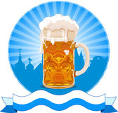 Oktoberfest  design. With beer glass Royalty Free Stock Photography