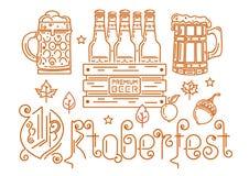 Line logo icon for Oktoberfest. Oktoberfest design. Line logo icons for Oktoberfest. Beer festival. Vector illustration Royalty Free Stock Photos