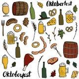 Oktoberfest doodle set Royalty Free Stock Photography