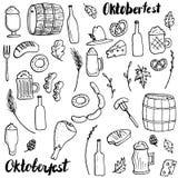 Oktoberfest doodle set Royalty Free Stock Photo