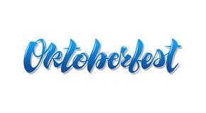 Oktoberfest eenvoudig blauw die eenvoudig geïsoleerd ontwerp van letters voorzien stock illustratie
