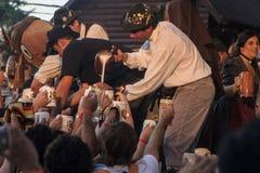 Oktoberfest en general Belgrano del chalet Imágenes de archivo libres de regalías