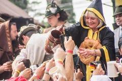 Oktoberfest en general Belgrano del chalet Foto de archivo libre de regalías