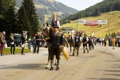 Oktoberfest en Gerlos Austria Imagen de archivo libre de regalías