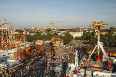 Oktoberfest fairgound in München, Duitsland, 2016 Royalty-vrije Stock Foto