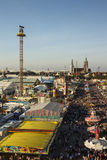 Oktoberfest fairgound in München, Duitsland, 2016 Stock Foto