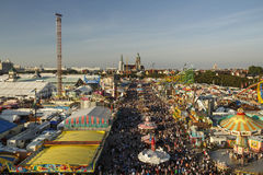 Oktoberfest fairgound in München, Duitsland, 2016 Stock Afbeelding