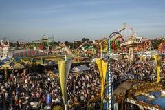 Oktoberfest fairgound in München, Duitsland, 2016 Royalty-vrije Stock Afbeeldingen