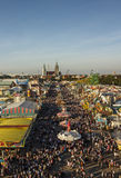 Oktoberfest fairgound in München, Duitsland, 2016 Stock Foto's