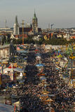 Oktoberfest fairgound in München, Duitsland, 2016 Stock Fotografie