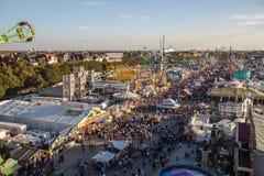 Oktoberfest fairgound in Munich, Germany, 2015 Royalty Free Stock Photo