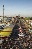 Oktoberfest fairgound in Munich, Germany, 2016 Royalty Free Stock Image