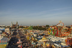 Oktoberfest fairgound in Munich, Germany, 2016 Royalty Free Stock Photos
