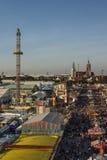 Oktoberfest fairgound in Munich, Germany, 2016 Royalty Free Stock Photography