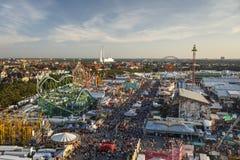 Oktoberfest fairgound in Munich, Germany, 2016 Royalty Free Stock Images