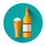Oktoberfest-Festival Glas-Flaschenglas-Becher-Bier-Ikone lizenzfreie abbildung