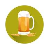 Oktoberfest-Festival-Glasbecher-Bier-Ikone stock abbildung