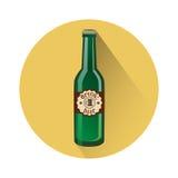 Oktoberfest-Festival-Glasflaschen-Bier-Ikone lizenzfreie abbildung