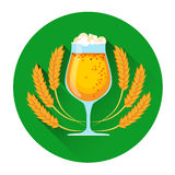 Oktoberfest Festival Glass Mug Beer Icon Stock Photos