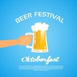 Oktoberfest Festival Hand Hold Glass Mug Beer Stock Photos