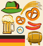 Oktoberfest festival objects for design isolated f Stock Photo