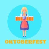 Oktoberfest festival poster or cars vector illustration