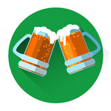 Oktoberfest Festival Two Glass Mug Beer Icon Stock Images