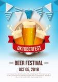 Oktoberfest festiwalu plakat obraz royalty free