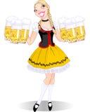 Oktoberfest flicka Royaltyfria Bilder