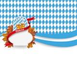 Oktoberfest Flyer Emblem Flag Beer Foliage Royalty Free Stock Image
