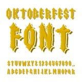 Oktoberfest font. Ancient Gothic alphabet. Vintage typography. O Stock Photography