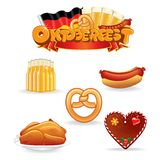 Oktoberfest Food and Drink Icons. Vector Clip Art Royalty Free Stock Images