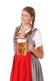 Oktoberfest Frau mit Bier lizenzfreies stockfoto