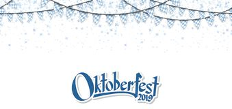 Oktoberfest 2019 garlands with confetti stock photos