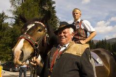Oktoberfest in Gerlos Austria royalty free stock photography